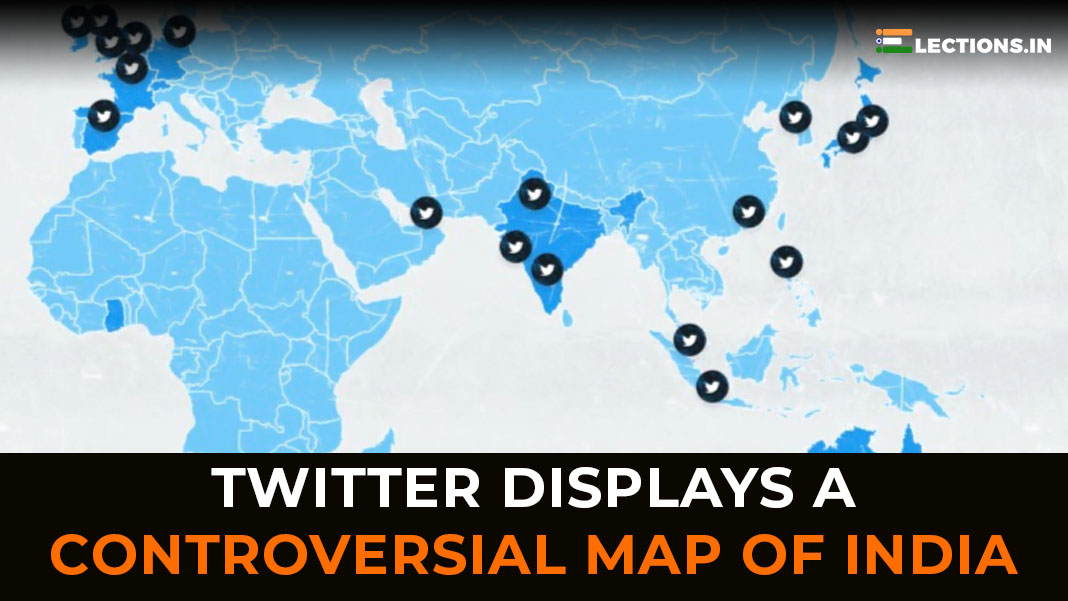 twitter india map controversy, controversial map of india