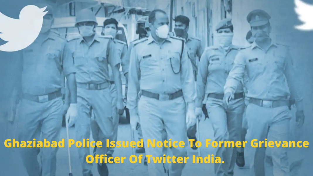 Ghaziabad Police, Ghaziabad Police Notice to Twitter
