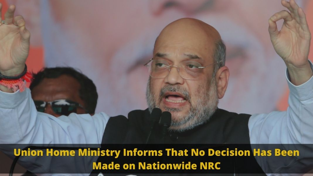 Union Home Ministry, Nationwide NRC
